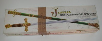 Palmer Jeweled Renaissance Sword and Scabbard