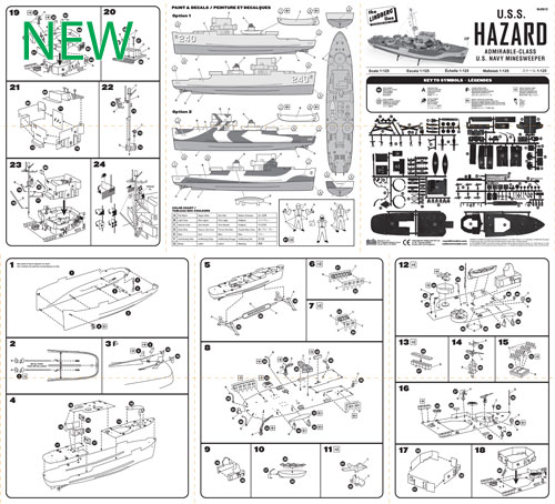 HL429-12-USS-Hazard-Minesweeper-Instruction-Sheet--o-NEW