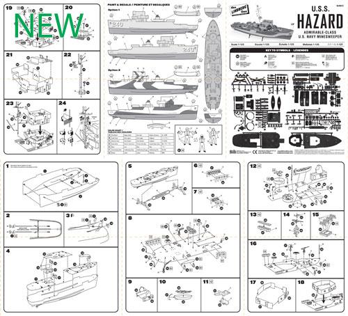 HL429-12-USS-Hazard-Minesweeper-Instruction-Sheet--o-NEW