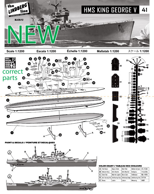 HL439-12-TTN-2-Pack-HMS-King-George-V-&-HMS-Dorsetshire-Instruction-Sheet--o-2-NEW