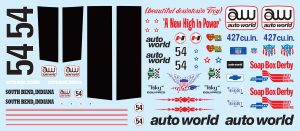 AMT801 1958 Plymouth Christine - decal-front