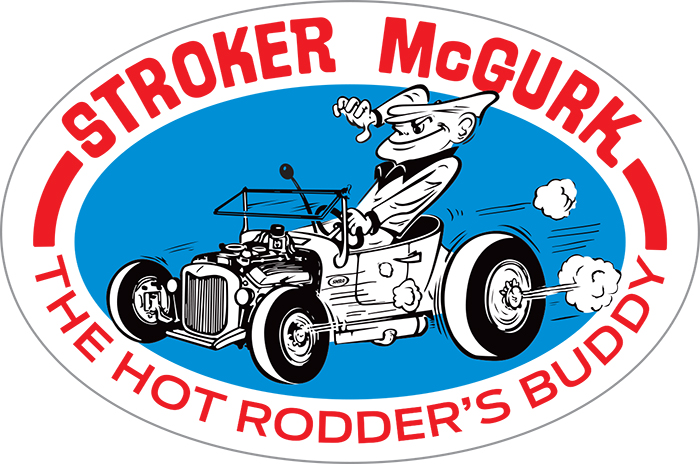 M873P-SMS Stroker McGurk Surf Rod Oval Sticker OL