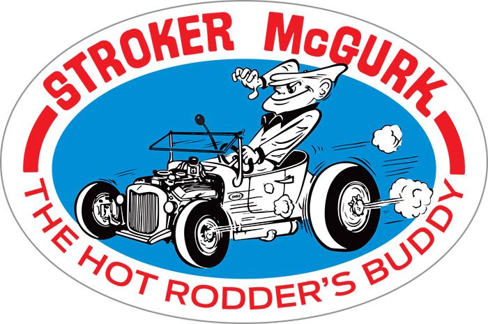 M873P-SMS Stroker McGurk Surf Rod Oval Sticker OL