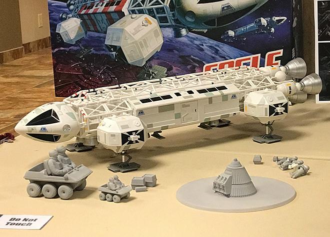 Moonbase Alpha Space:1999 EAGLE Transporter Finished 1:48 MPC Model Kit MPC917
